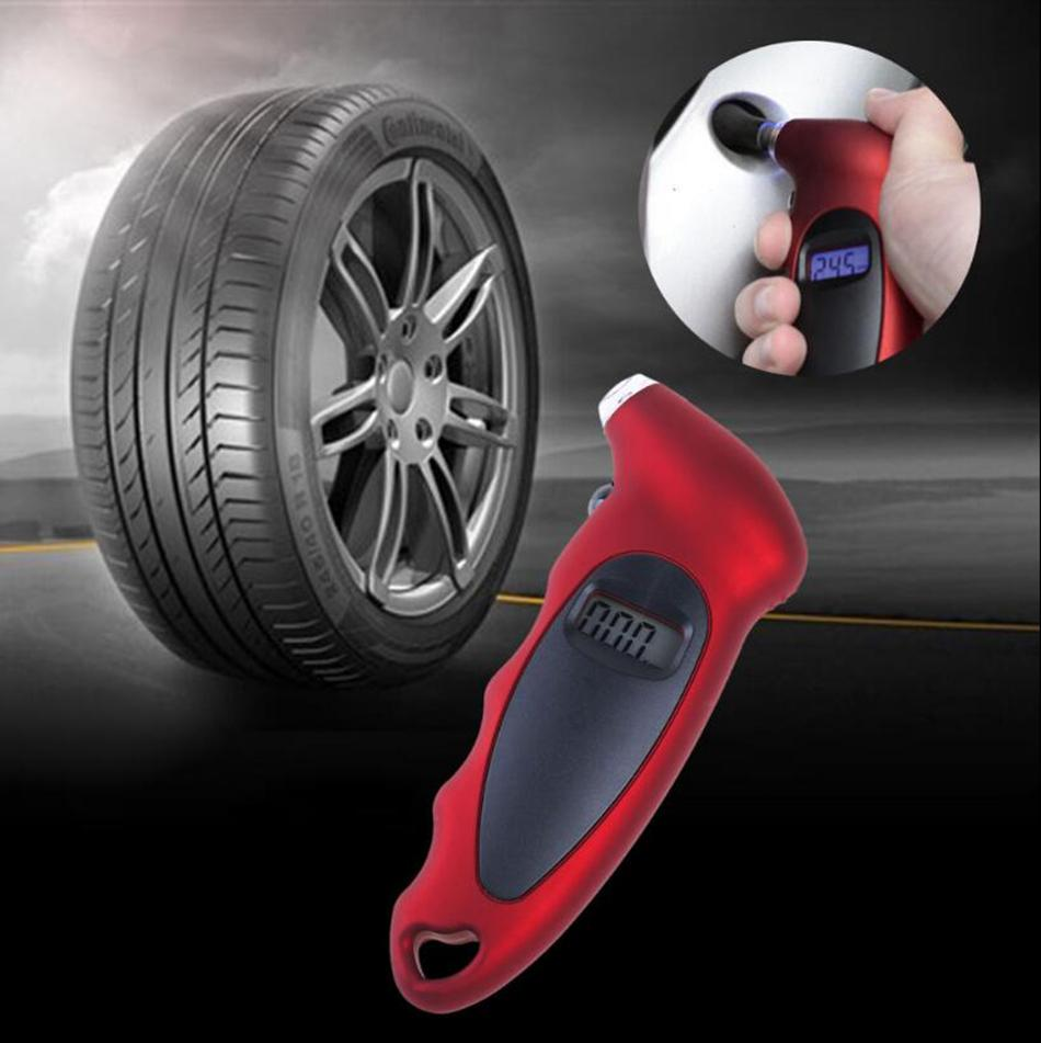 شاشات الكريستال السائل الرقمية الاطارات مقياس ضغط الهواء والضغط تستر على السيارات السيارات الدراجات النارية السيارات الإطارات الرقمية أداة OOA4845
