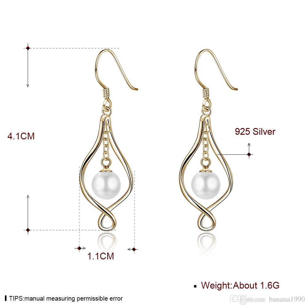 Katalog Verfügbar Dangling Süßwasserperle 925 Sterling Silber Ohrringe Schmuck Französisch Haken Earing Charms 1.1x4.1cm 1.6g