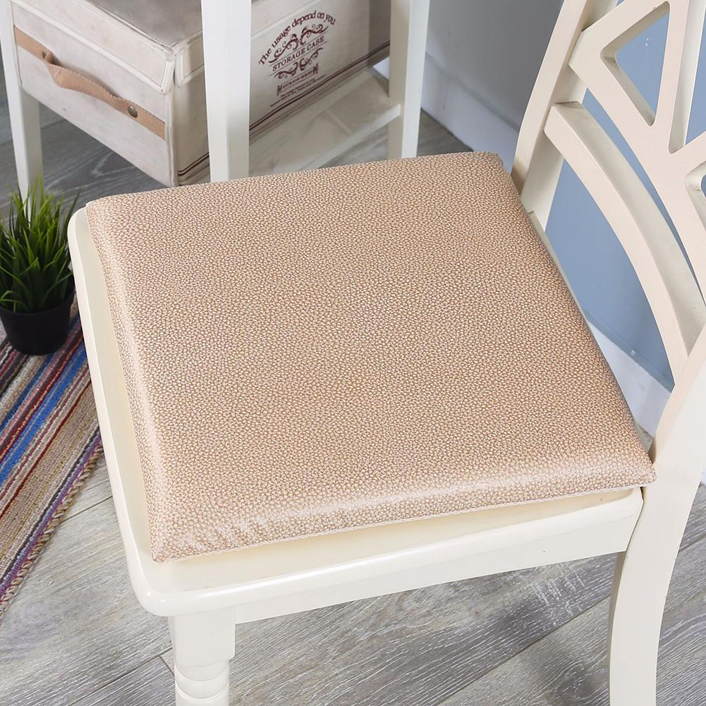 Leather Memory Foam Chair Cushion Soft Comfort Breathable Office Bed  Backrest Pad Detachable Slow Rebound Cushions Patio Cushion Sets Cushions  For Outdoor ...