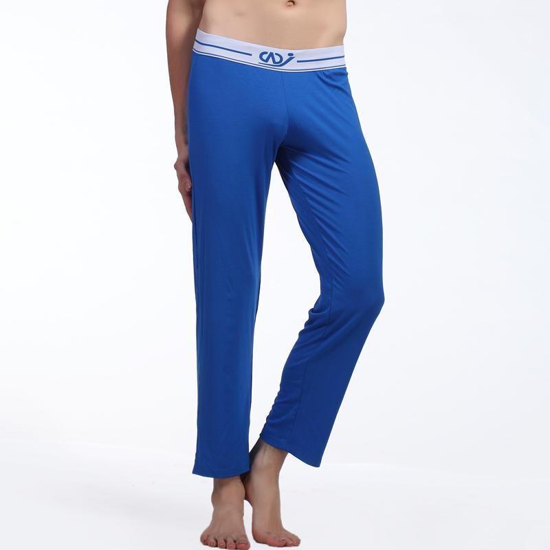 New Men Modal Underwear Men's Thermal Long Johns Comfy Sexy Trousers Men Causal Long Pants Sleepwear Gay Pouch Clothing WJ