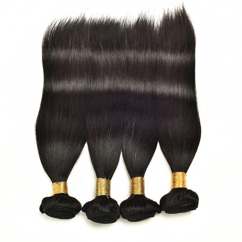 브라질 버진 인간의 머리 페루 인도 말레이시아 스트레이트 헤어 1 조각 / 많이 머리카락 확장 한 번들 더블 위사