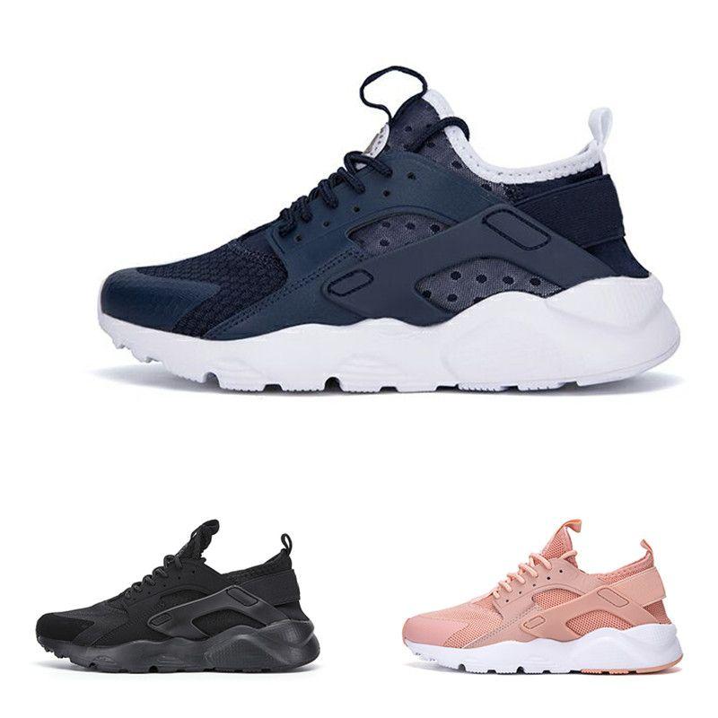 2dd27df3bc5b 2018 Huarache Running Shoes 1.0 4.0 IV QS Drift Harache Triple White ...