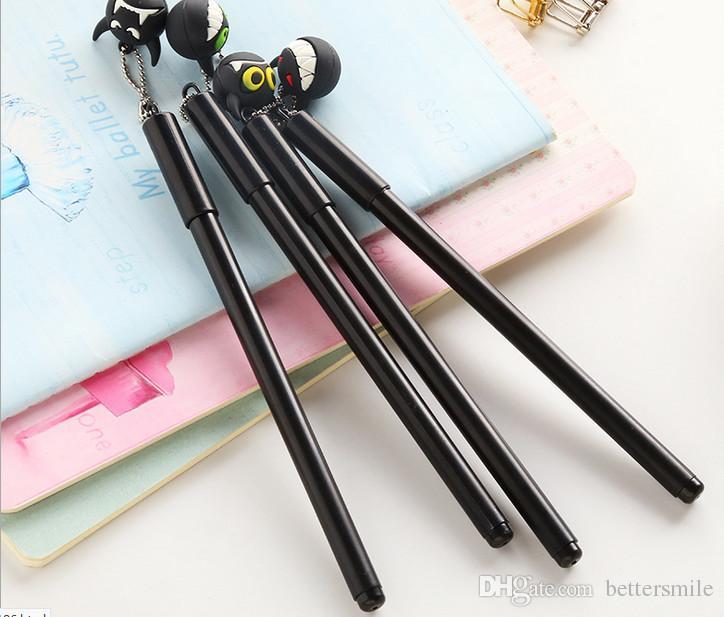Wholesale gel pen \lotCreative cartoon cute, funny devil pendant neutral Signature Pen0.5mm Black 222