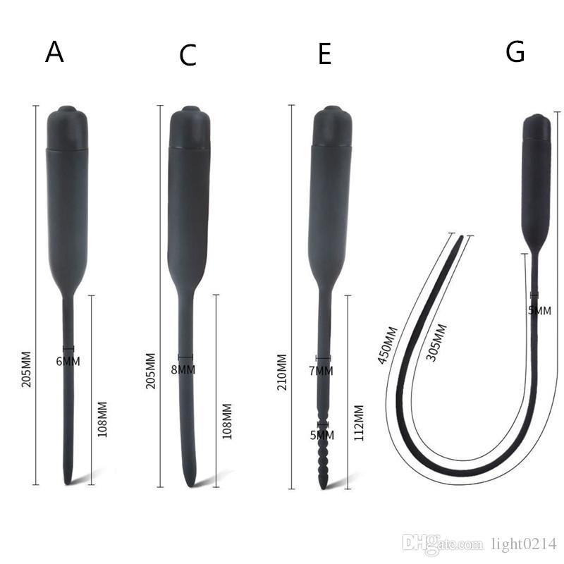 남성 실리콘 요도 사운드 페니스 플러그 스트레칭 시스템 말 아이 페니스 사운드 Urethral 확장기 섹스 토이 B2-3-25