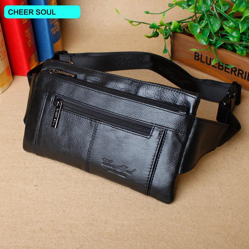 0d158925f5887 Male Waist Belt Bags Genuine Leather Chest Bag Fashion Shoulder Bag Travel Fanny  Pack Phone Pouch Wallet For Man Waist Pack Kavu Rope Bags Travel Handbags  ...
