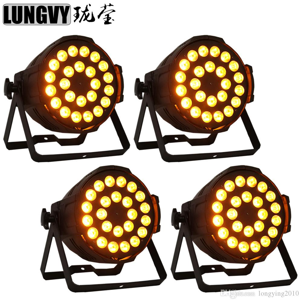 4pcs/lot 24x18w RGBWA UV 6in1 Indoor Led Par Light 6/10CH DMX Color Changing Dream Effect Lighting For Ktv/Bar/Show/Video/Party/Stage