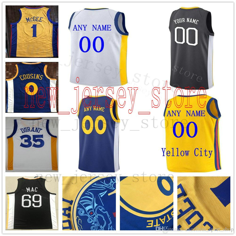 Custom College Printed City Edition  30 Stephen 35 Kevin Curry ... 9723242e5