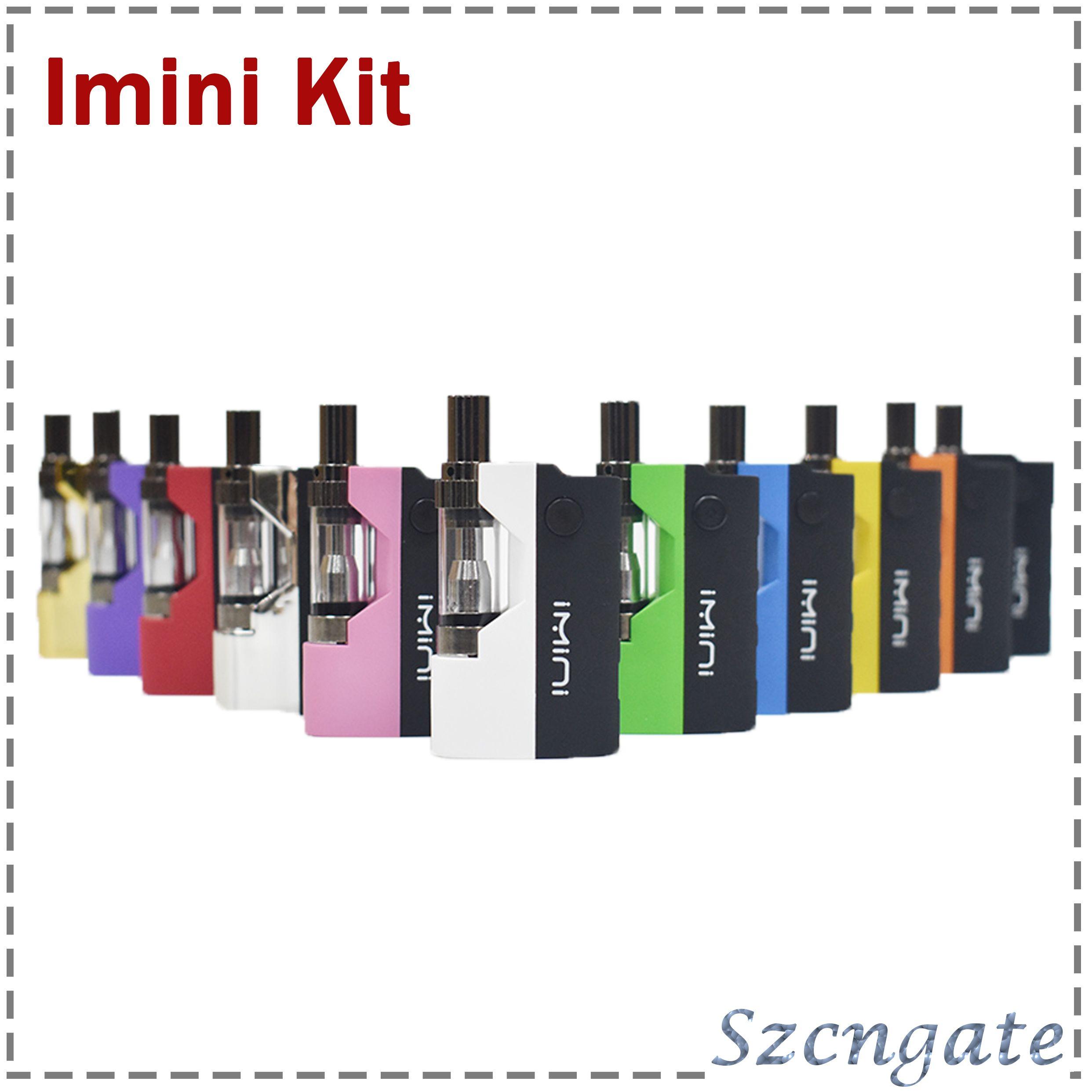 Original imini Thick oil Cartridges Vaporizer Kit 500mAh Box Mod Battery  510 Thread New Liberty V1 Tank Wax Atomizer vape pen 0268073