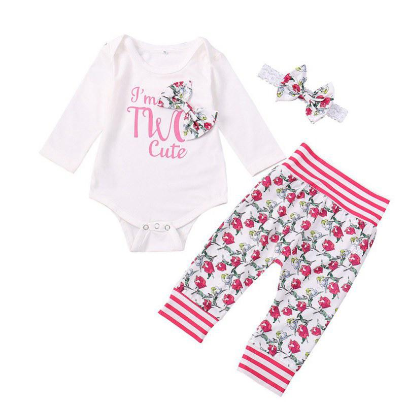061e0931ec51 2019 Baby Jumpsuits Letter Print Girl Rompers Autumn Long Sleeve ...