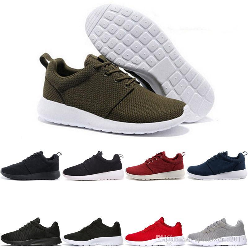 best sneakers 40a9c 87752 Nike Air Roshe Run One Tanjun Venta Al Por Mayor Gratis Run Men Women  Running Shoes London Olympic Ros Negro Rojo Blanco Gris Azul Zapatillas De  Deporte Al ...