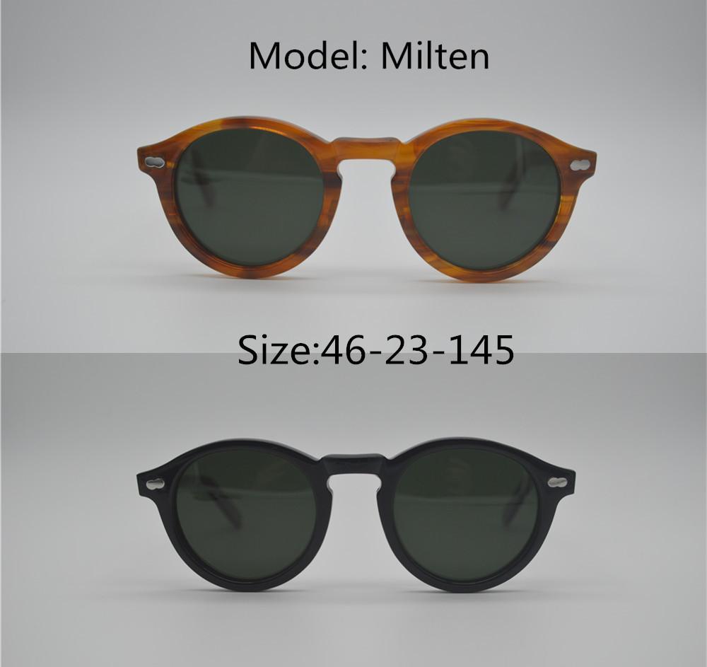 3f5ef41dd4 2018 Pirate Captain Miltzen Vintage Oval Frame Sunglasses For Men Polarized  UV400 Lens For Driving Outdoor Sunglasses Polarized Sunglasses Sunglasses  For ...
