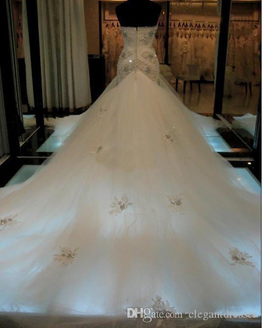2018 удивительные реальные изображения стройная милая красивая кружевная аппликация из бисера тюль юбка часовня поезд русалка свадебные платья свадебные платья Bling