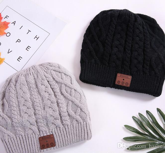 2 цвета Беспроводной Bluetooth шапочки спорт музыка шляпа смарт-гарнитура Cap теплая зима шляпа с микрофоном динамик для всех смартфонов CCA8045 10 шт.