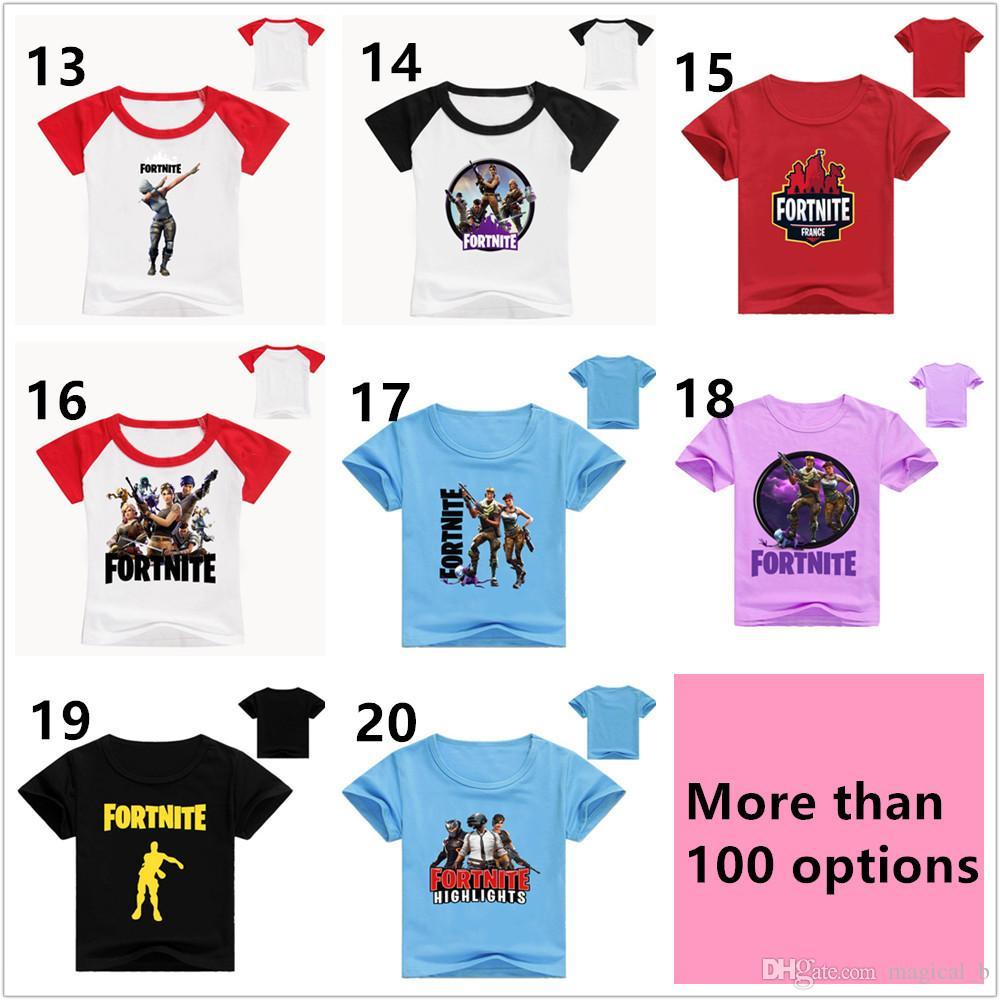 b1569e20 2019 Kids Fortnite T Shirt 100% Cotton Boys Girls Short Sleeve Shirts  Summer Clothing Children Tees Clothes Epacket Free From Magical_b, $4.33 |  DHgate.Com