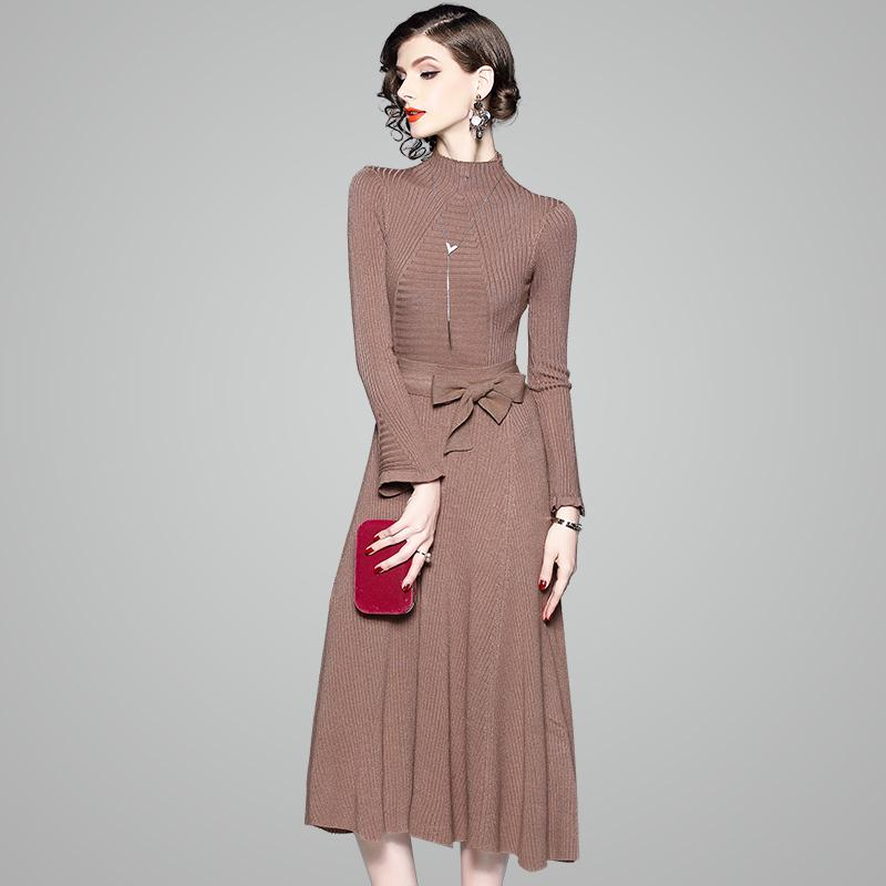 Warm Winter Dress 2018 New High Quality Spring Gorgeous Knitting
