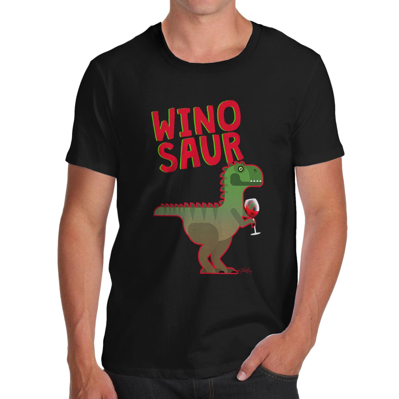 edecaccaa Twisted Envy Winosaur Funny Wine Dinosaur Men'S Funny T Shirt Dress ...