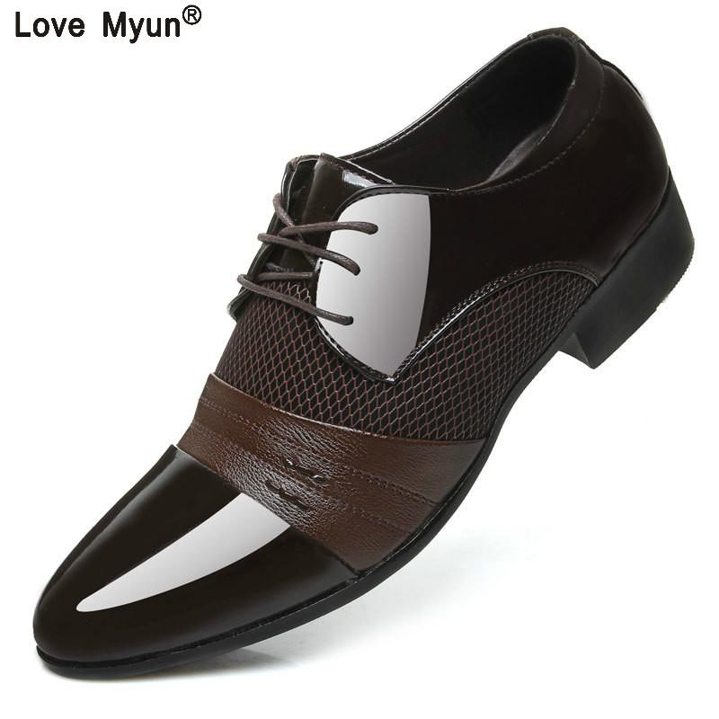 6c0b8cfc75f8f Big Size China Brand Classic Male Footwear Brown Black White Push Dress  Patent Leather Office Large Social Elegant Shoe For Men Green Shoes Boots  Shoes From ...