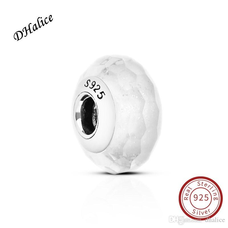 1a441a277 2019 Frosty Mint Shimmer Murano Glass Charm Pandora Authentic 925 Sterling  Silver White Beads Fits Snake Bracelets DIY Fine Jewelry From Dhalice, ...