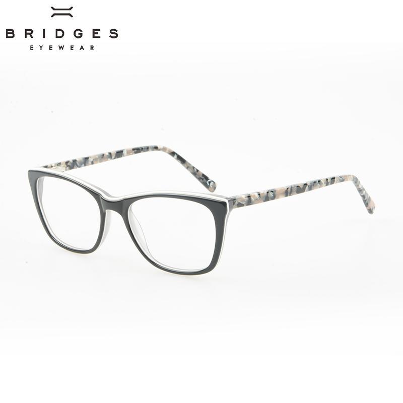 ae7f4b7736a 2019 BRIDGES EYEWEAR Delicate Design Women s Acetate Optical Glasses Frame  Cat Eye Eyeglasses Frames White Eyewear For Ladies Unique From Bojiban