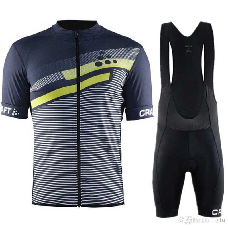 2018 Men Breathable Cycling Jersey Bib Shorts Set Summer MTB Bike ... 7712624f7
