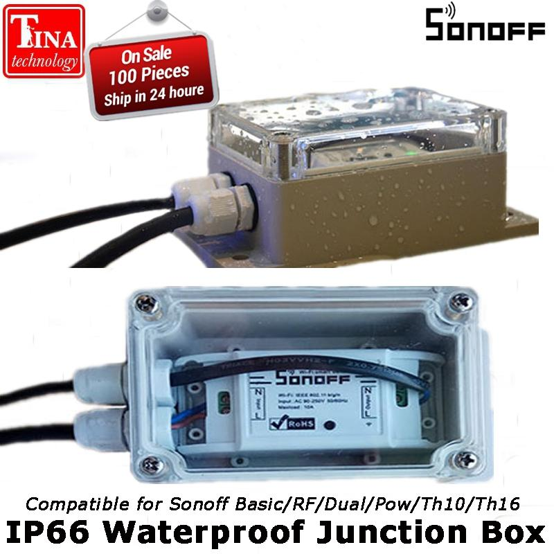 Consumer Electronics Original Sonoff Ip66 Waterproof Case For Sonoff Basic Rf Pow Th10 Th16 G1 Aesthetic Appearance Smart Electronics