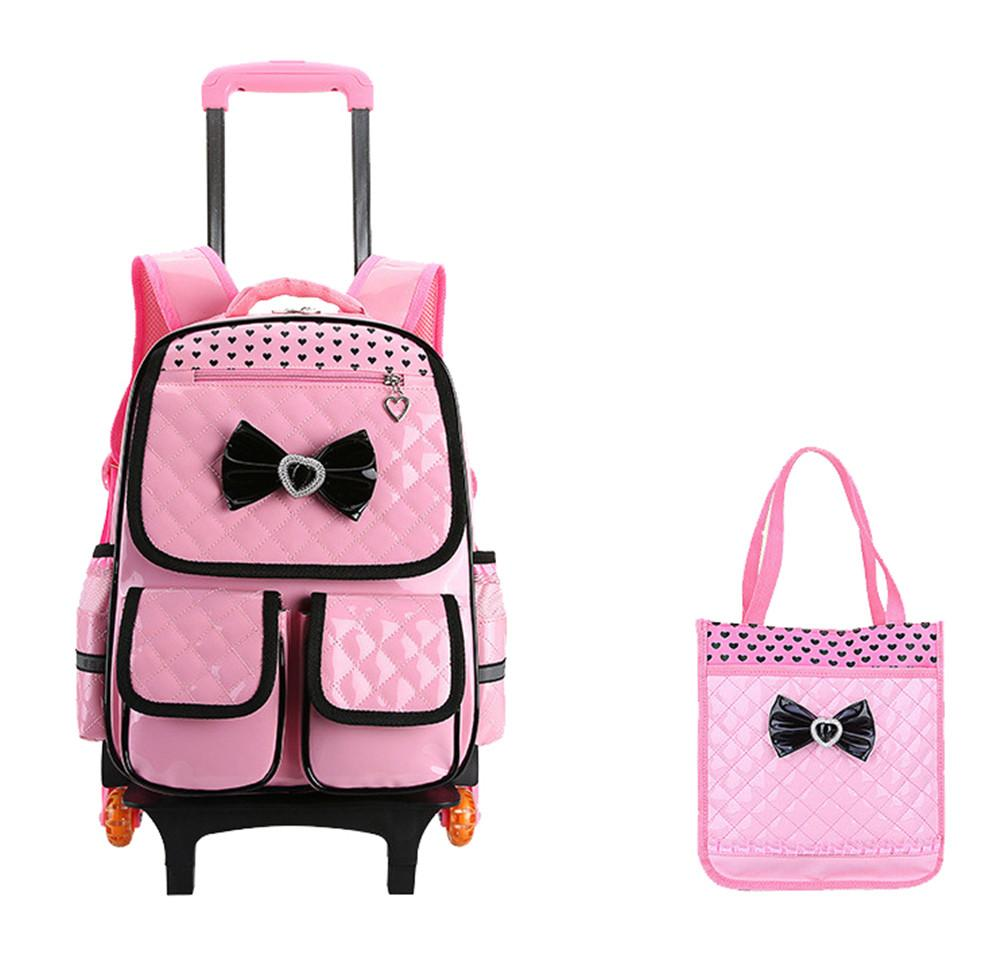 7d21fc6d397d Trolley School Bag For Girls With 3 Wheels Backpack Children Travel Bag  Rolling Luggage Schoolbag Kids Mochilas Bagpack Handbag Cute Backpacks Hand  Bags ...