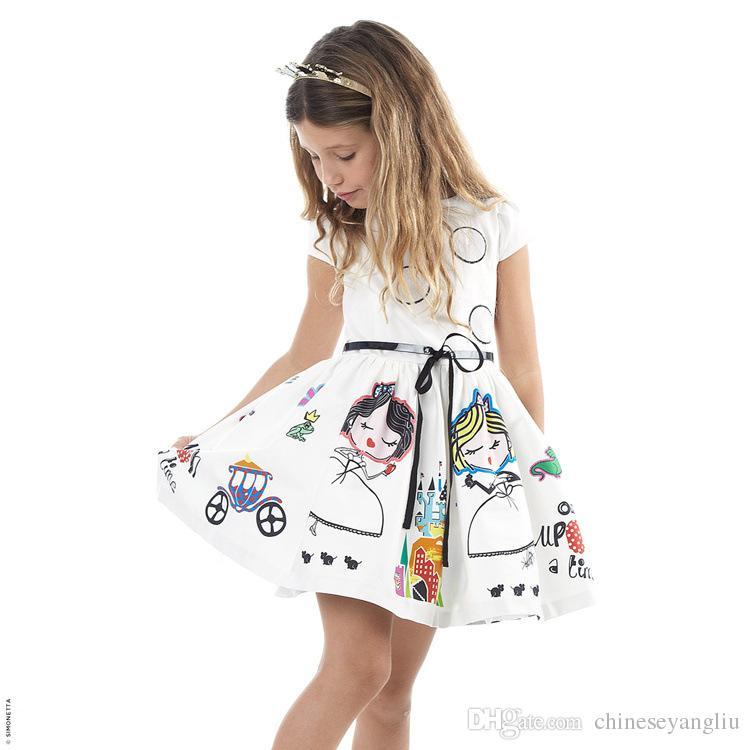 69065df500d5 Girls Summer Dress Kids Clothes 2018 Brand Baby Girl Dress Character ...