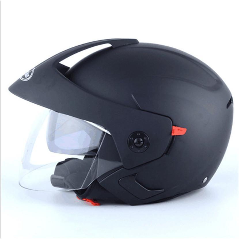 ada03ab0da955 Compre Mate Negro Casco Moto Motocicleta Vintage Casco Jet Capacidades De  Motociclista Vespa Cascos Para Moto Cafe Racer Cara Abierta A  48.42 Del  Yaritsi ...
