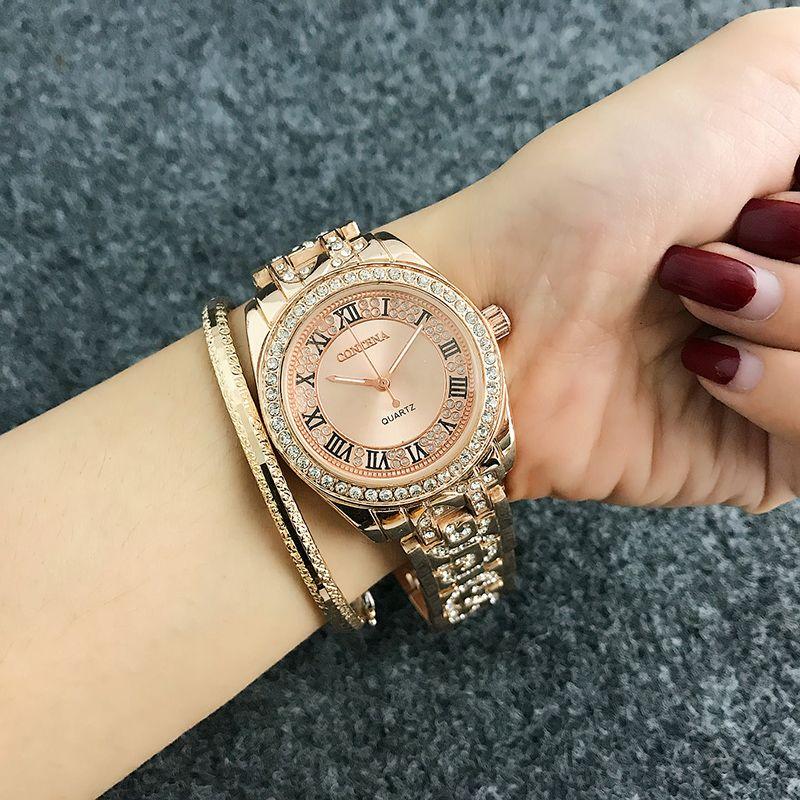 9edc20d719d Großhandel Mode Römische Ziffern Uhr Damenuhren Diamant Damenuhren Rose  Gold Damenuhr Uhr Reloj Mujer Relogio Von Wvuptjja84154