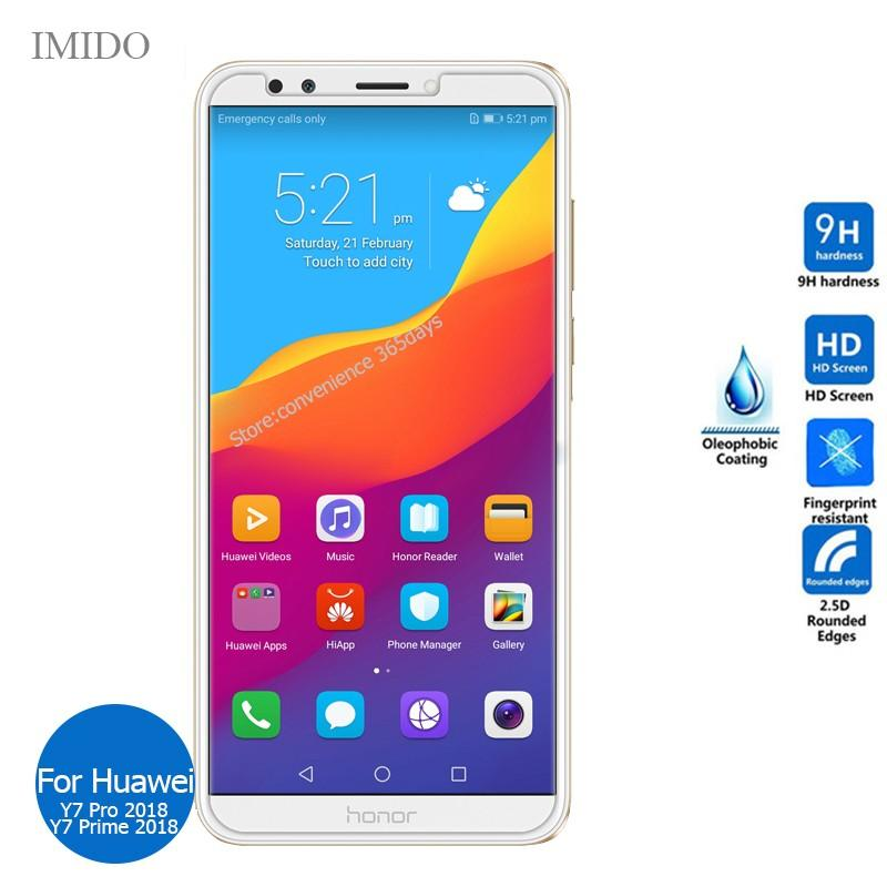 For Huawei Y7 Pro 2018 Tempered Glass Screen Protector 2 5 9h Safety  Protective Film on Y7Pro Y 7 Prime 2018 LDN-L21 LDN L21