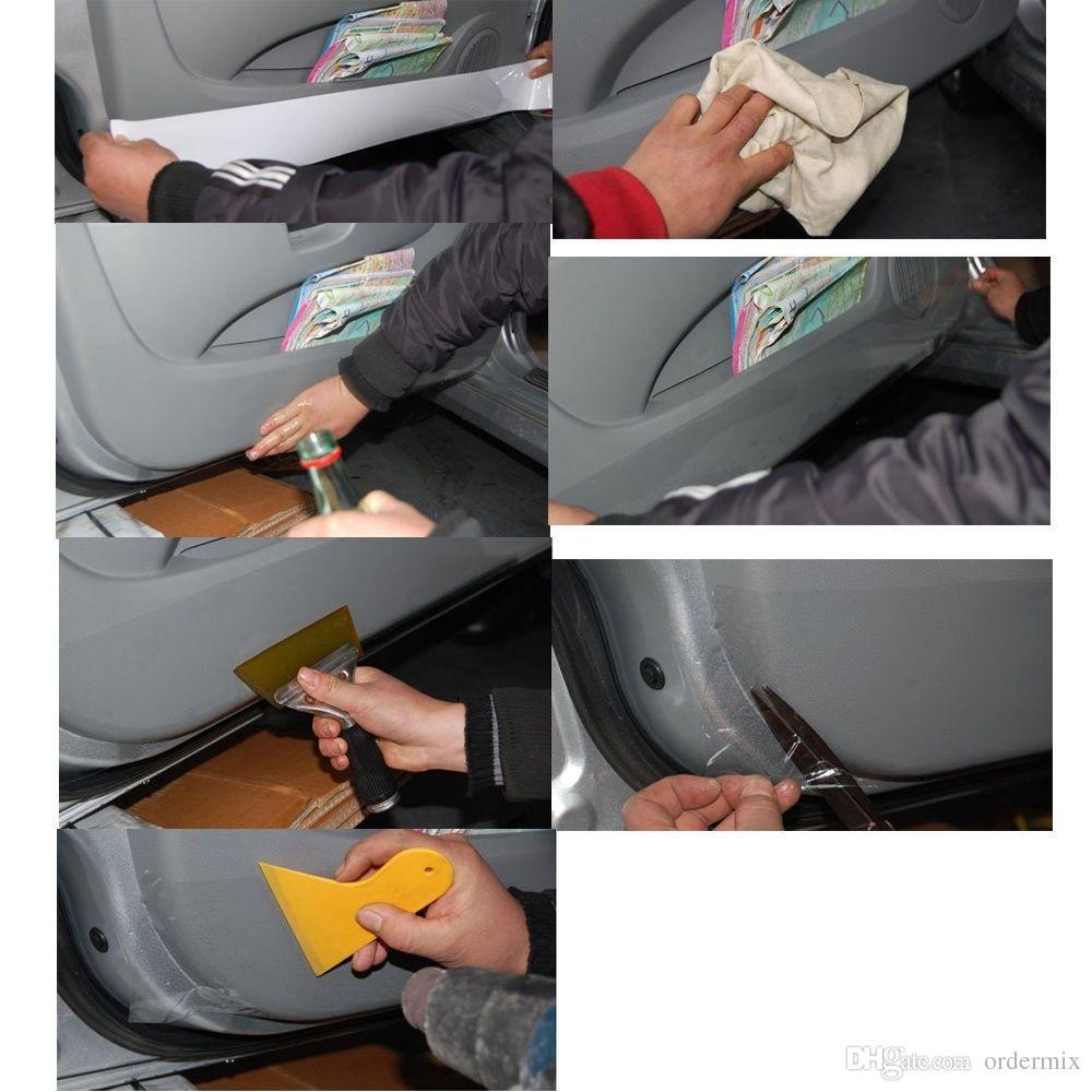 실용적인 명확한 자동차 범퍼 후드 보호 필름 비닐 스티커 문 가장자리 페인트 보호 자동차 스타일링