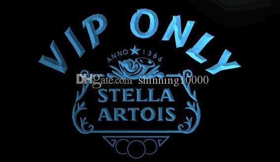 2019 Ls1238 B Vip Only Stella Artois Beer Neon Light Sign Decor
