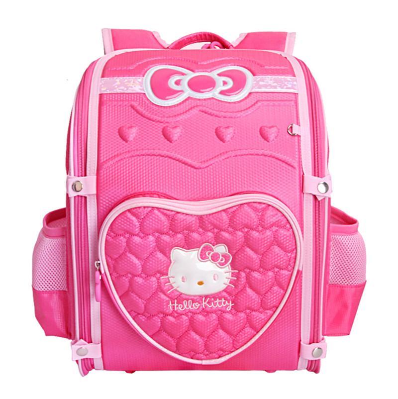 835d0736d8 Pink Hello Kitty Bag Backpack Foldable Orthopedic Schoolbag Primary  Elementary School Backpacks Children School Bags For Girls Girls Rolling  Backpacks For ...