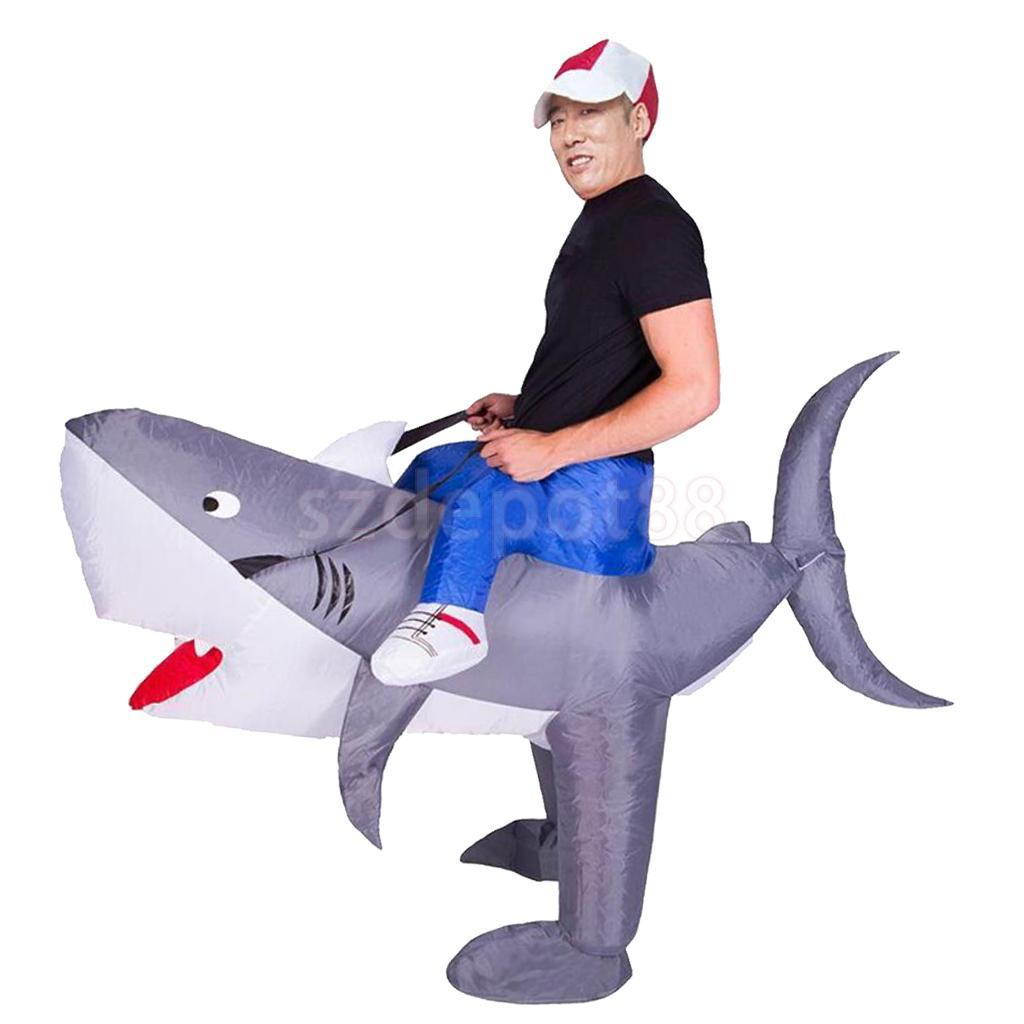 novelty inflatable shark rider costume blowup halloween outfit adult