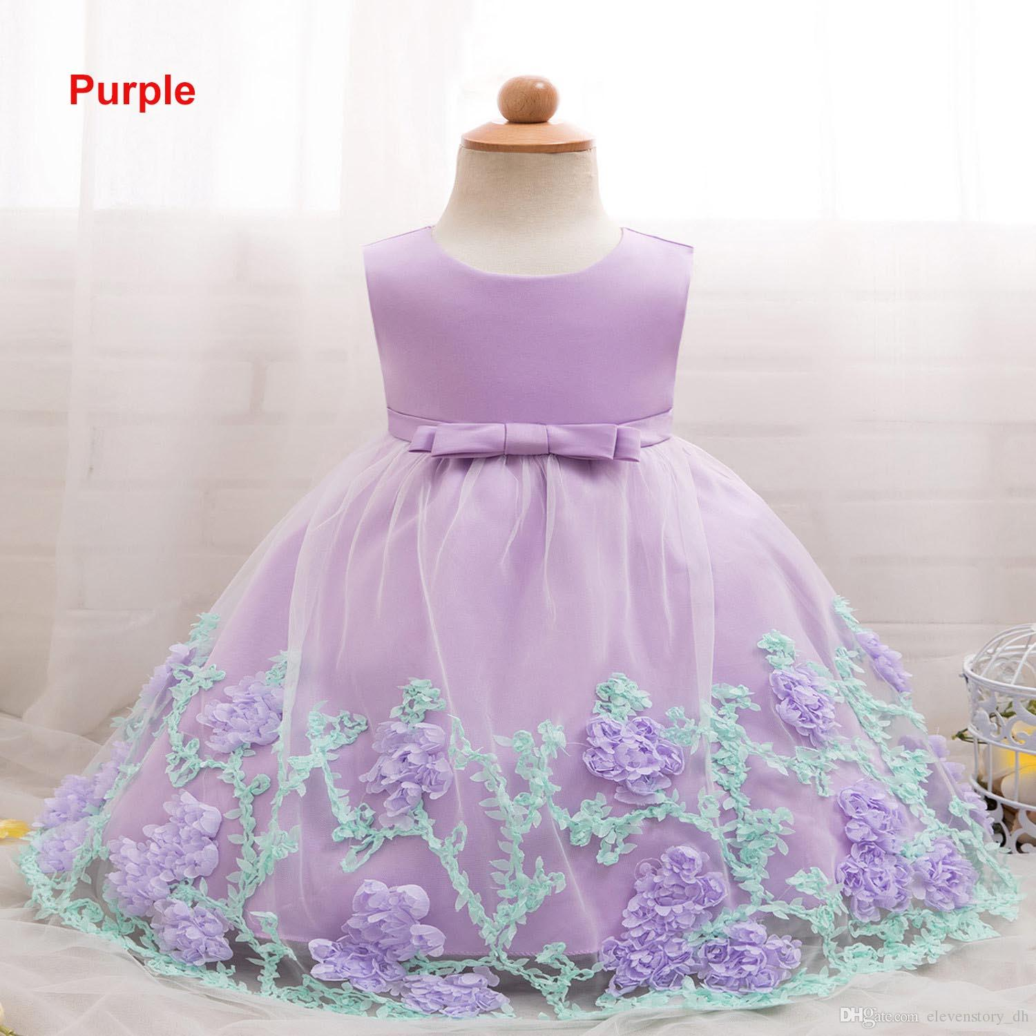 94bed07cc 2019 6 Months To 2 Years Baby Girls Tutu Flowers Dresses