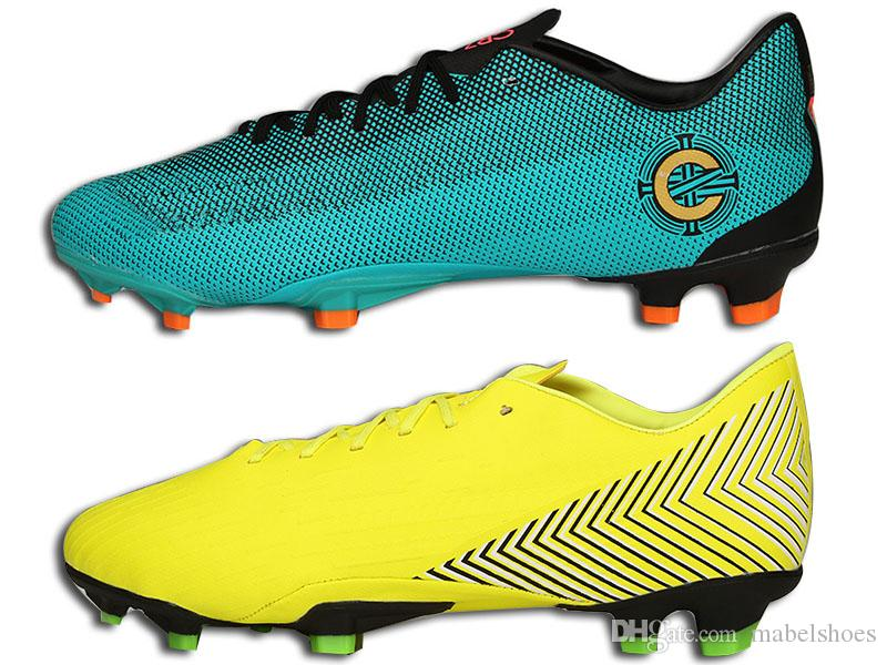 3d3913a67278 2019 Assassin 12 FG Football Boots Green Yellow Designer Waterproof  Mercurial Speed System TOP Quality Soccer Shoes With Box From Mabelshoes,  ...