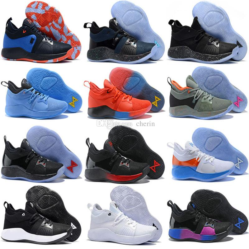 the latest 64499 fef40 2018 High Quality Paul George 2 PG II Basketball Shoes for Cheap Top PG2 2S  Starry Blue Orange All White Black Sports Sneakers Size 40-46 PG PG2  Trainers ...