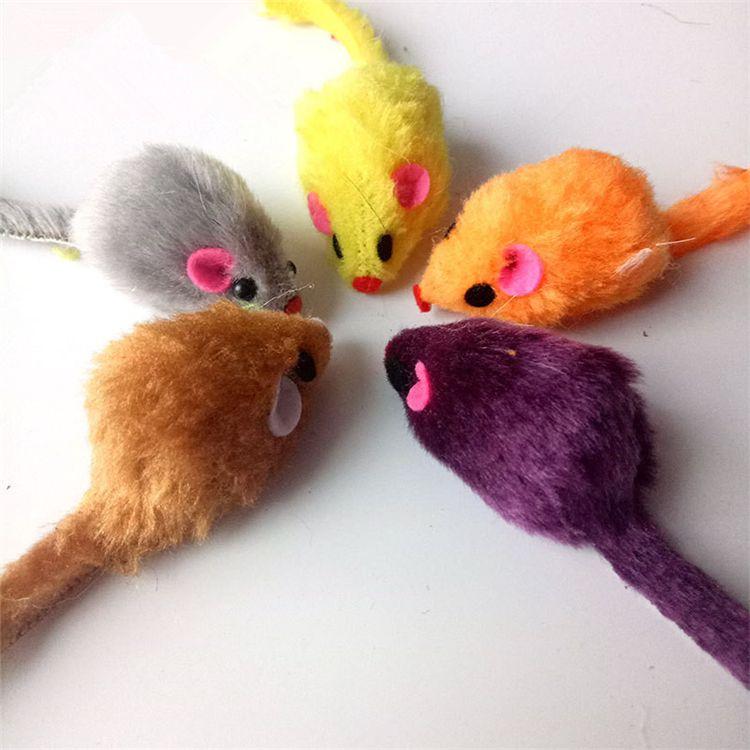 Buona qualità Cat Favorite mouse Toy Mouse Shape Cute Pet Toys for Cats Pet Supplies Cat Toys T2I305