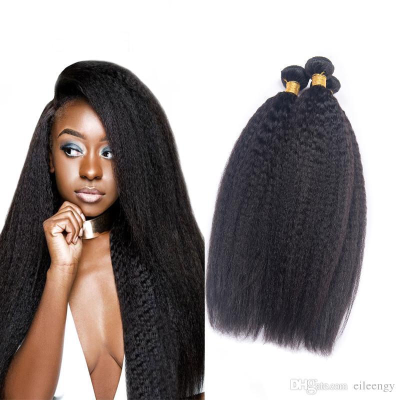 Indian Virgin Human Hair Kinky Straight Bundles Full Head Kinky Mink
