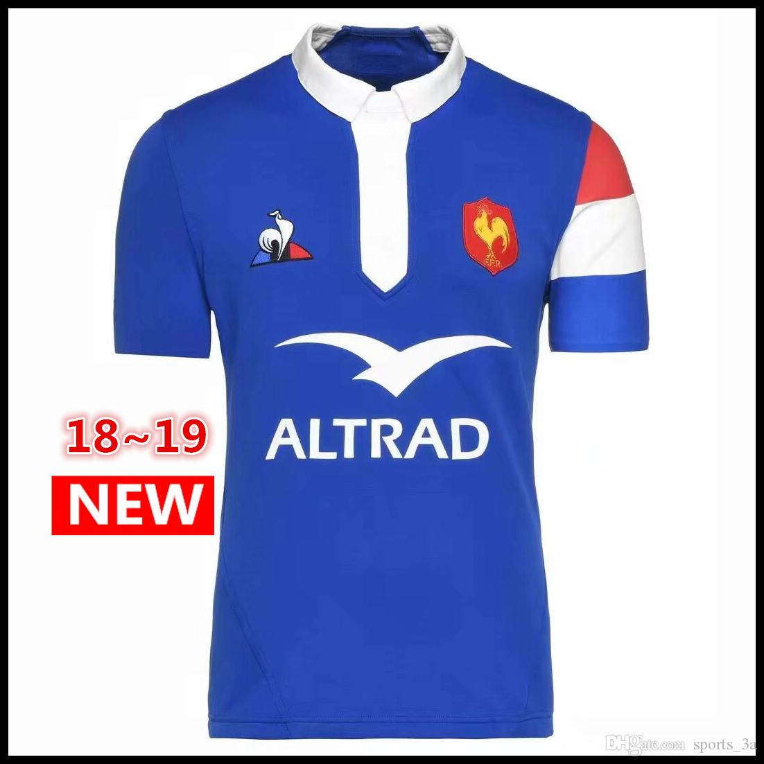 336e03a13 DHL 2018 2019 New France Rugby Jerseys 18 19 France Shirt League ...