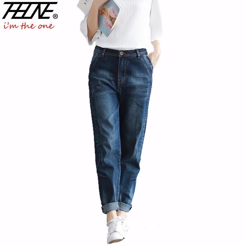 530bf8af62e07 2019 2018 Boyfriend Jeans Harem Pants Women Trousers Casual Plus Size Loose  Fit Vintage Denim Pants High Waist Jeans Women Vaqueros S18101601 From  Jinmei01