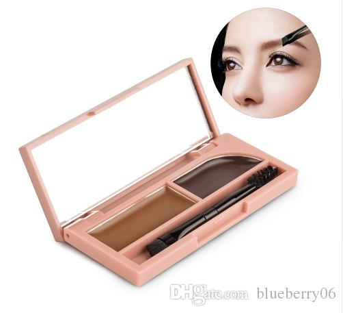 d22e26e20b4b Women Professional Eye Brow Makeup Kit Set Waterproof Eyebrow Powder and  Gel 2 in 1 With Brush and Mirror