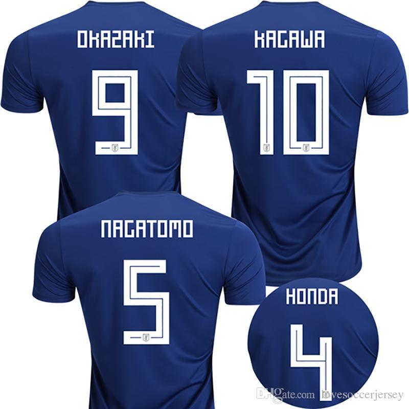 Compre 2018 Copa Do Mundo De Futebol Do Japão Jersey 2018 Japão Casa De  Futebol Azul Camisas   10 Kagawa   9 Okazaki   4 Honda Tailândia Copa Do  Mundo De ... 2d1ff5a0e8ccf
