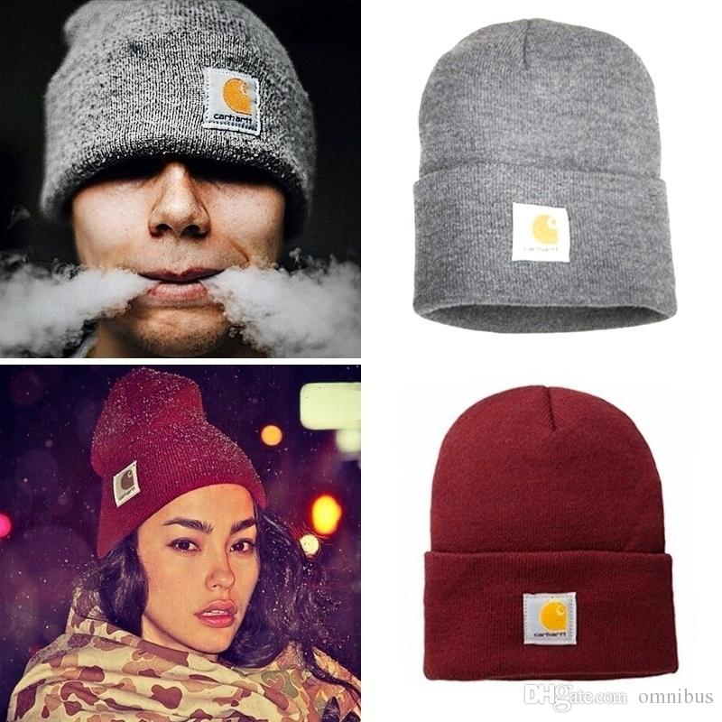 1436dad8a1d79 2018 2019 New Fashion Woolen Knit Cap Solid Color Hip-Hop Wool Hat ...