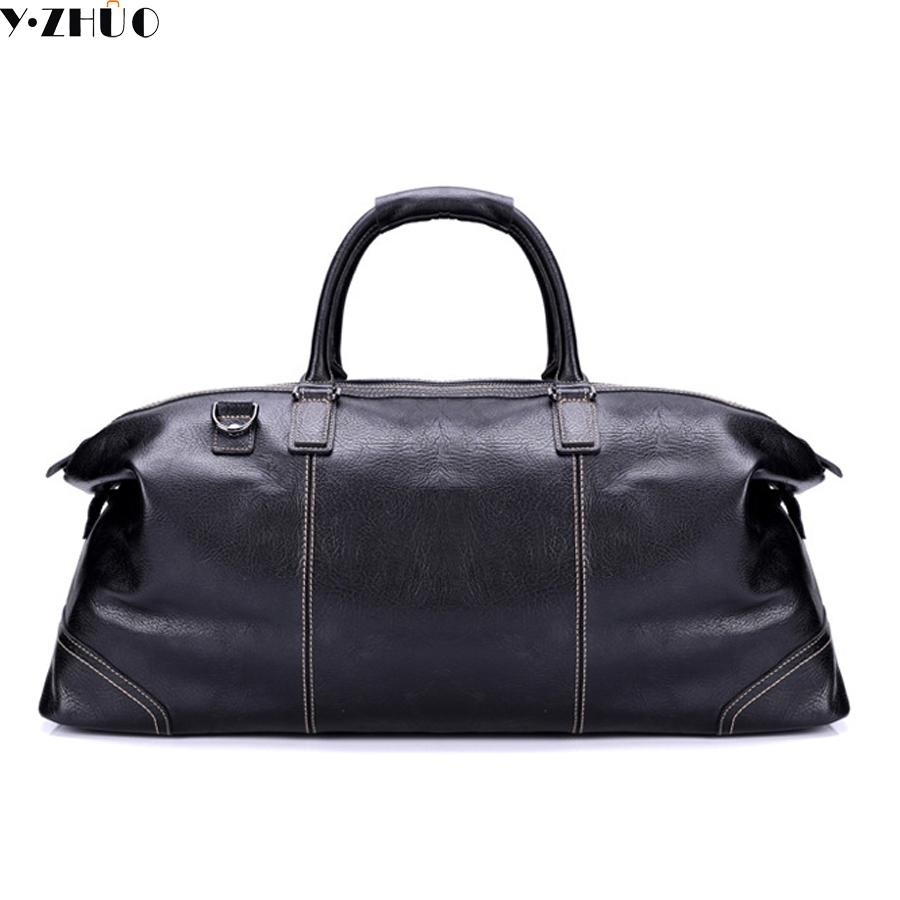 d86fd68e81cc Wholesale Genuine Leather Big Travel Bags Large Capacity Handbags Tote 100% Really  Cowhide Leather Duffle Bag Luxury Brand Shoulder Bags Large Duffel Bags ...