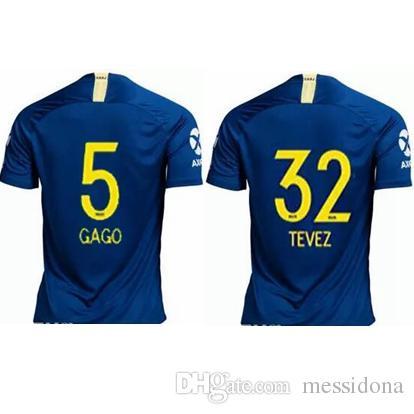 64c1233f751bc 2019 2018 19 BOCA JUNIORS GAGO 5 TEVEZ 32 Camisa De Futebol Thailand  Quality Soccer Jersey Football Shirt Kit Camiseta Futbol Maillot De Foot  From Messidona ...