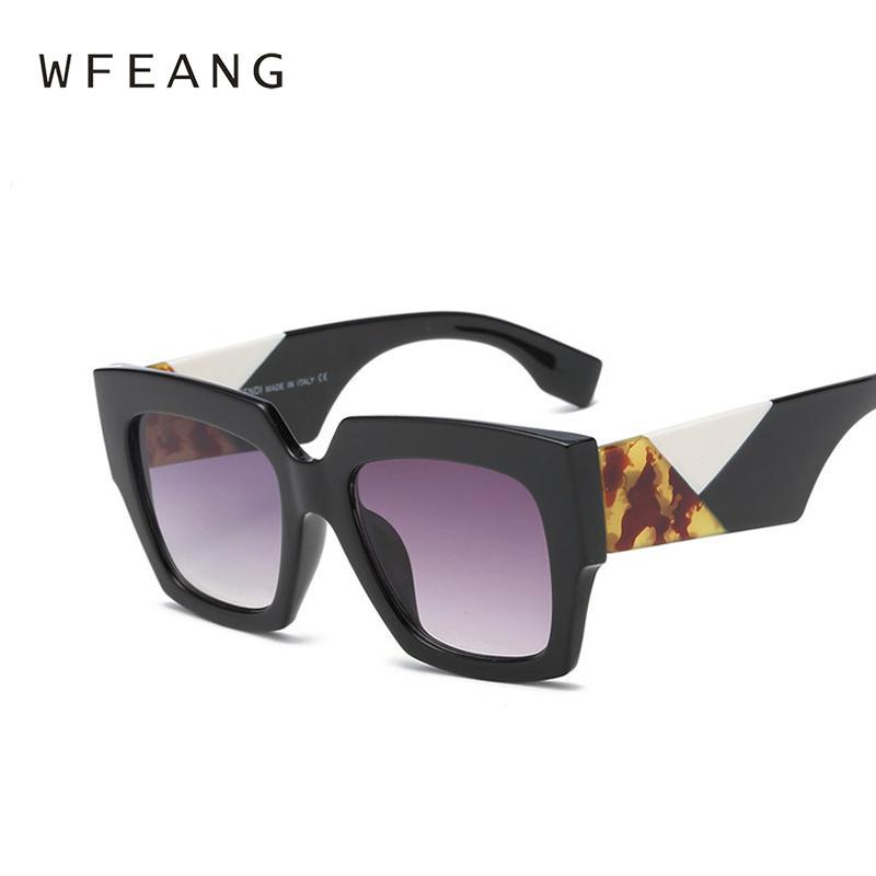 d9e9efedf1b WFEANG Fashion Square Sunglasses Women Retro Brand Designer Sun ...
