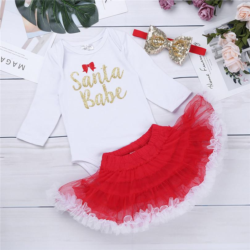 aba3f8d93 2019 IEFiEL Toddler Newborn Infant Baby Girls My First Christmas Romper  With Tutu Skirt Xmas Christmas Costumes Party Daily Clothes From Sophine14,  ...