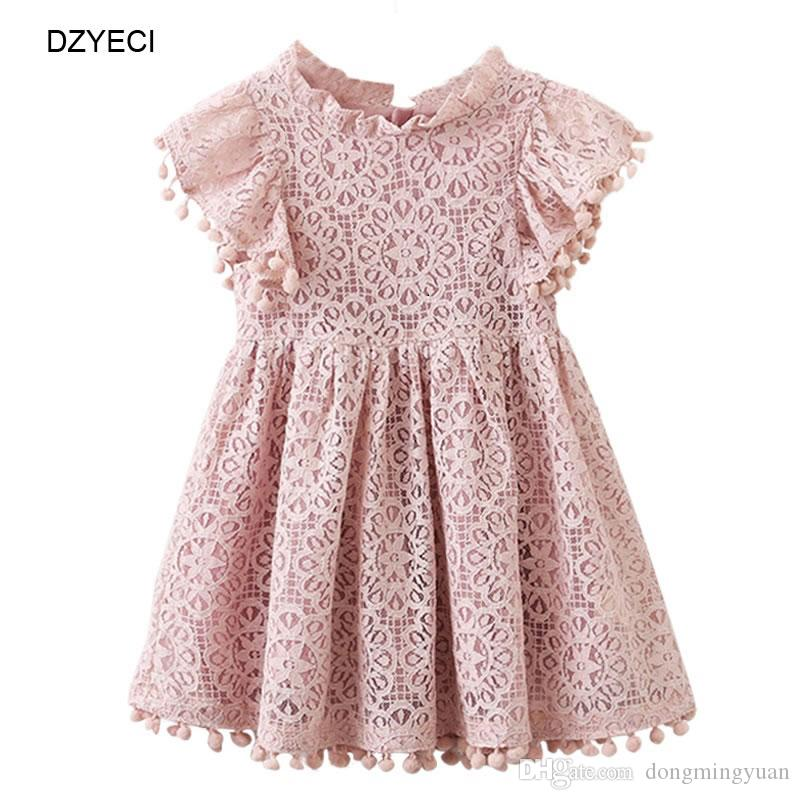 f0c8dbf3ae47 Summer Baby Girl Hollow Lace Dresses Fashion Toddler Kid Ball Casual Party  Princess Frock Carnaval Children Vintage Costume Girls Boutique Dress Kid  Flower ...