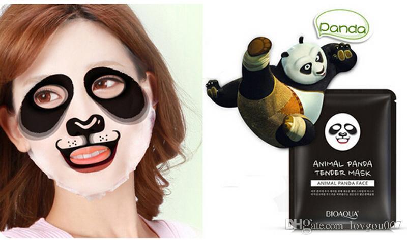 BIOAQUA Kaplan Panda Koyun Köpek Şekli Hayvan Yüz Maskesi Nemlendirici Yağ Kontrolü Nemlendirici Besleyici Yüz Maskeleri